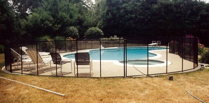 custom pool enclosure hexagon shape. Mix And Match Color Combinations On The Frame, Mesh, Border To Suit  Your Personal Taste While Still Maintaining Highest Level Of Safety. Custom Pool Enclosure Hexagon Shape L